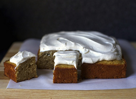 Applesauce Cake with Whipped Tofu Topping