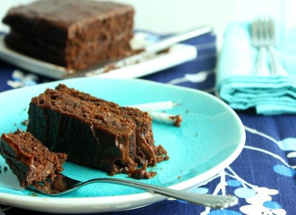 Carob Cake with Rich Carob Frosting