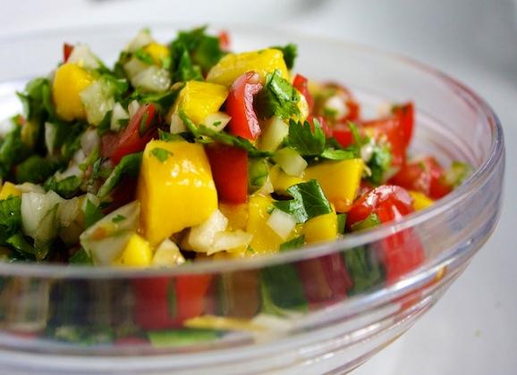 Fresh Pineapple and Mango Salsa