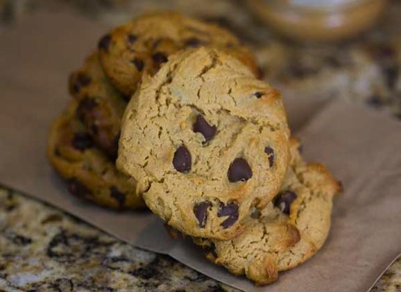 Spelt Carob Chip Cookies