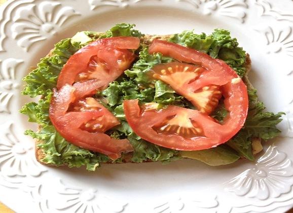 Open-Faced California Club Sandwich