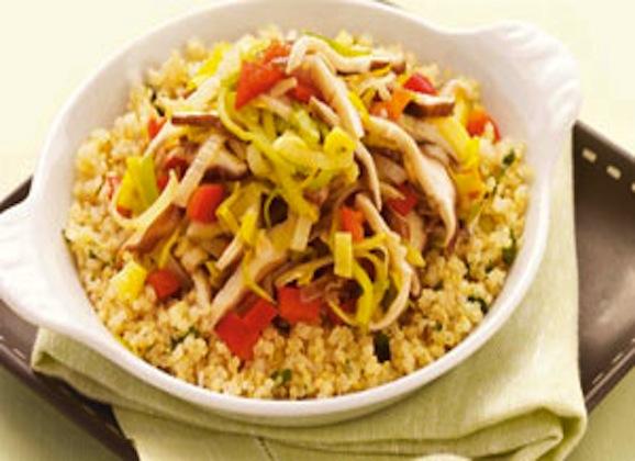 Quinoa with Leeks and Shiitake Mushrooms
