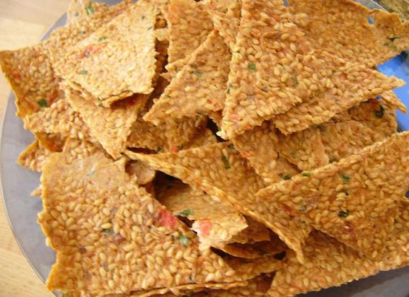 Flax Seed Crackers