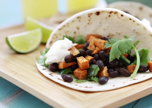 Black Bean and Sweet Potato Enchiladas