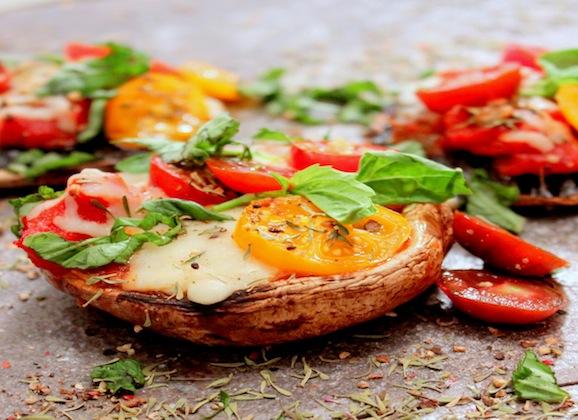 Grilled Portobellos with Mango Poblano Relish
